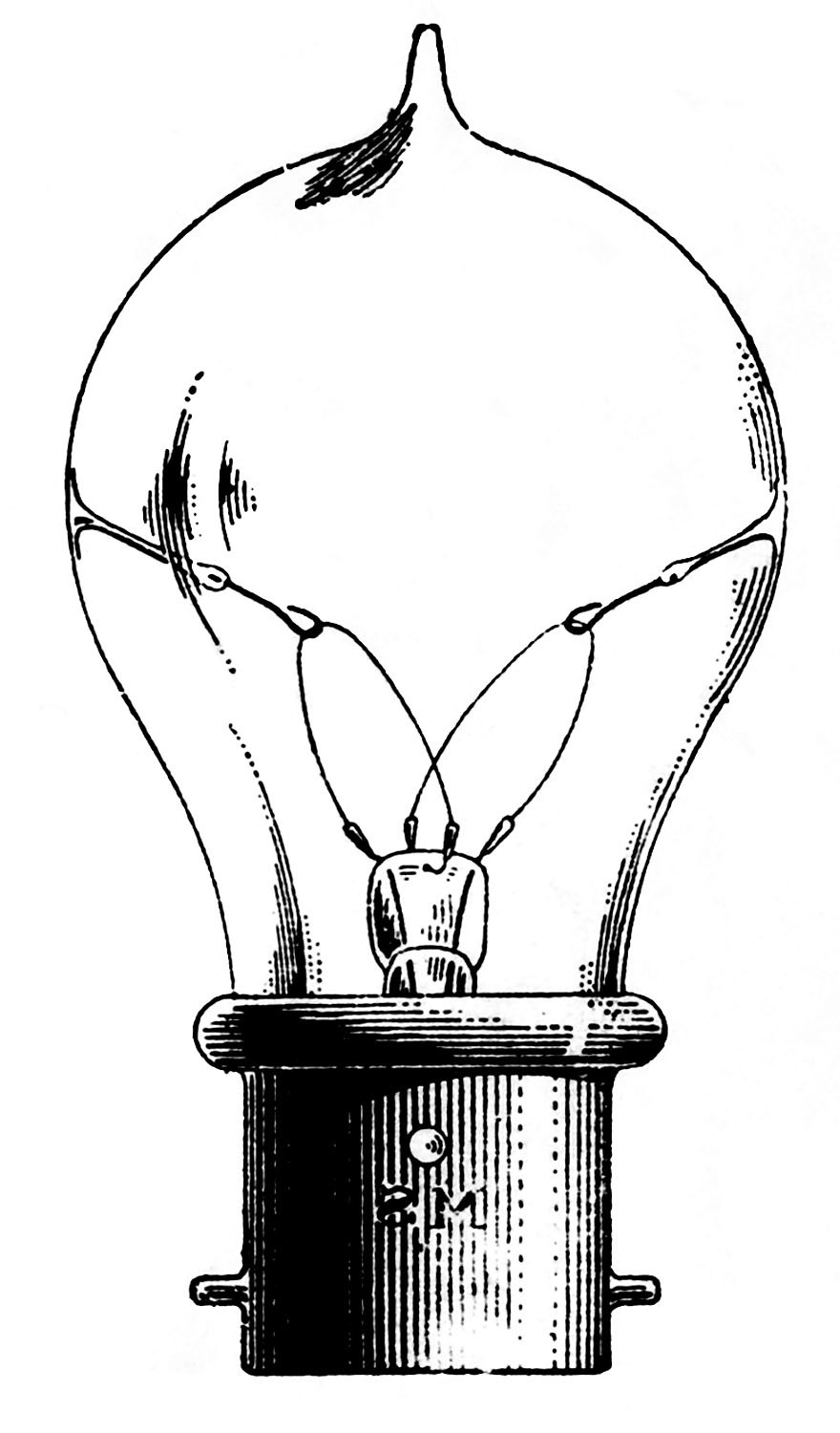 880x1500 Light Bulb Clipart Old Fashioned