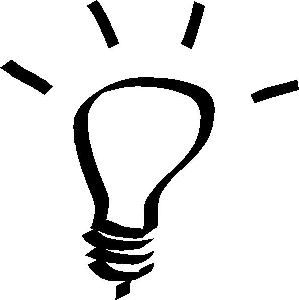 594x596 Lightbulb White Clip Art