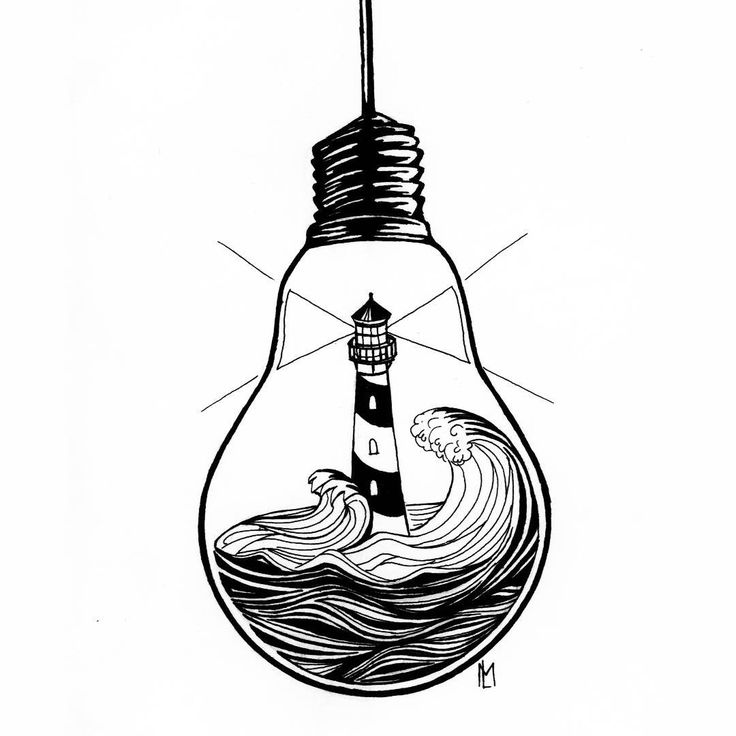 Line Art Instagram : Light bulb drawing free download best