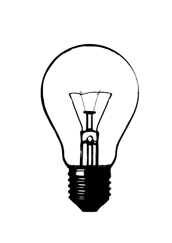 600x847 How To Draw Light Bulb Coloring Pages Object Repeats