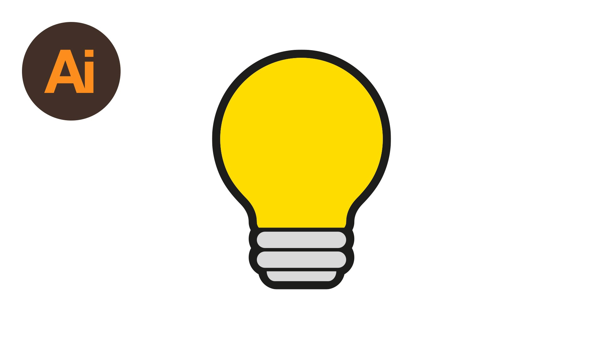 1920x1080 Learn How To Draw A Lightbulb Symbol In Adobe Illustrator Dansky