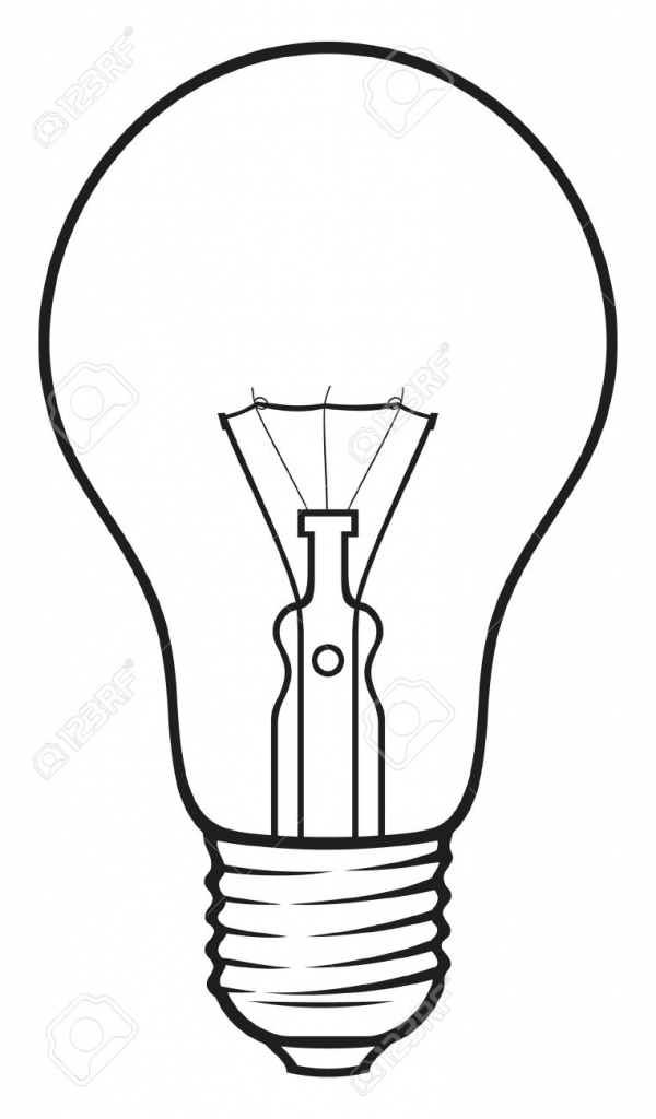 600x1024 Light Bulb Drawing Light Bulb Drawing Vector Light Bulb Vector