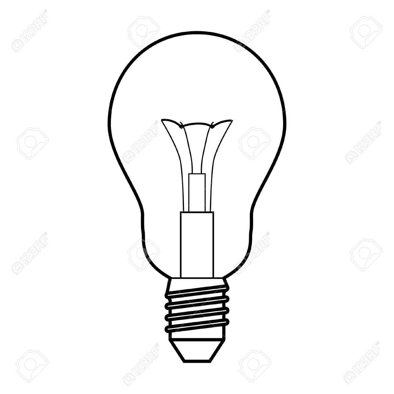 1300x1300 Light Bulb Drawing. Hand Drawn Light Bulbs Free Vector Bulb