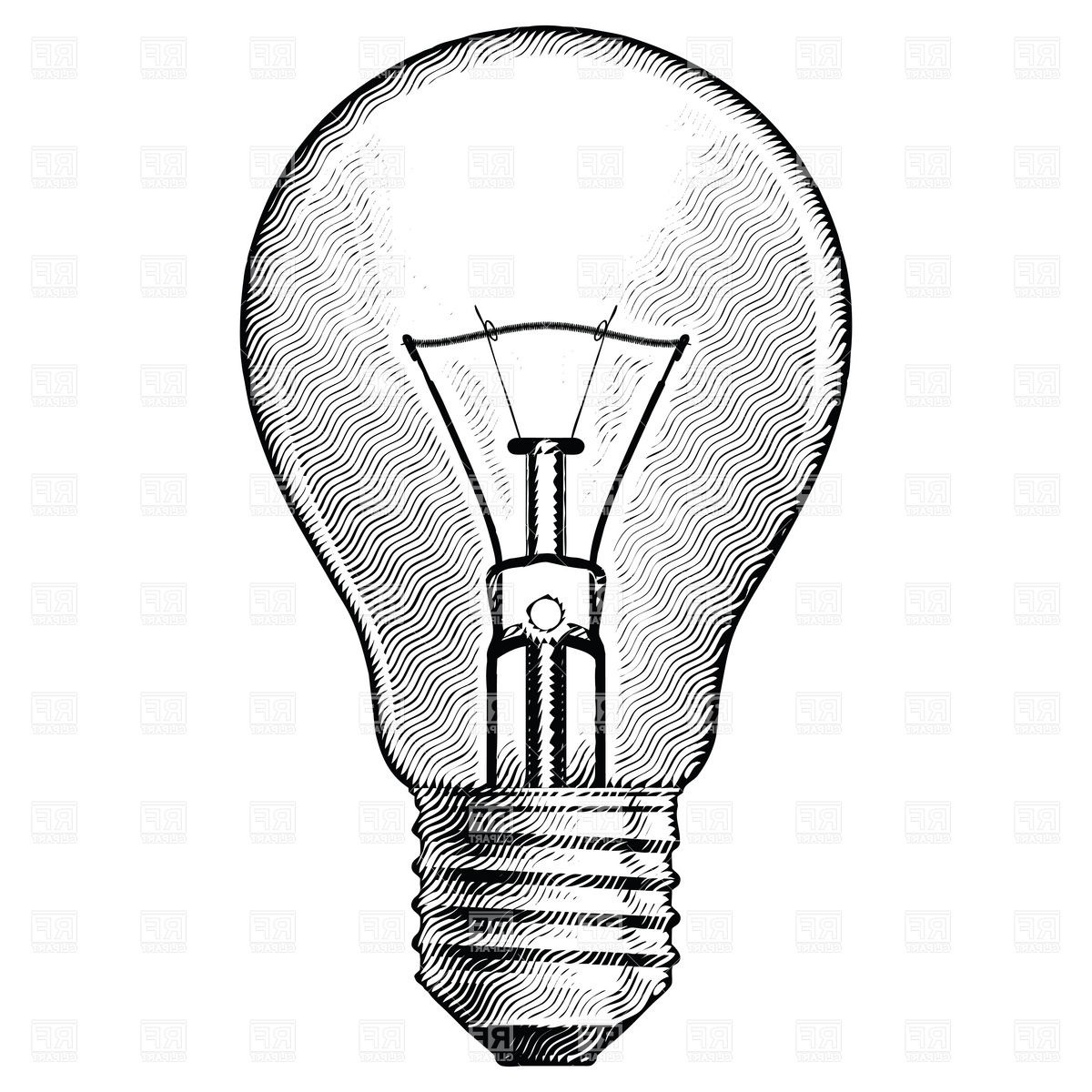 1200x1200 Light Bulb Clipart Illuminated