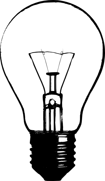 348x595 Lightbulb Stencil