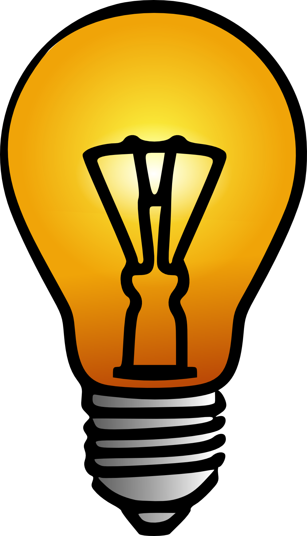 999x1744 Free Clipart For A Light Bulb