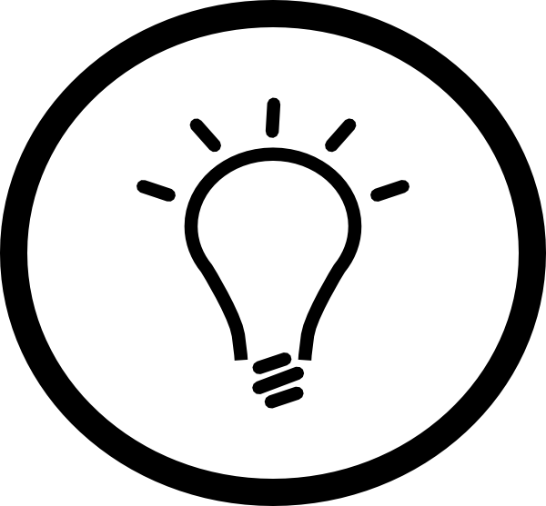 600x557 Idea Light Bulb Clip Art