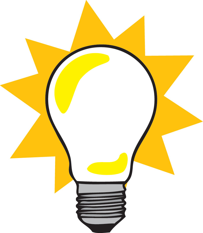 800x920 Idea Clipart Lightbulb Moment