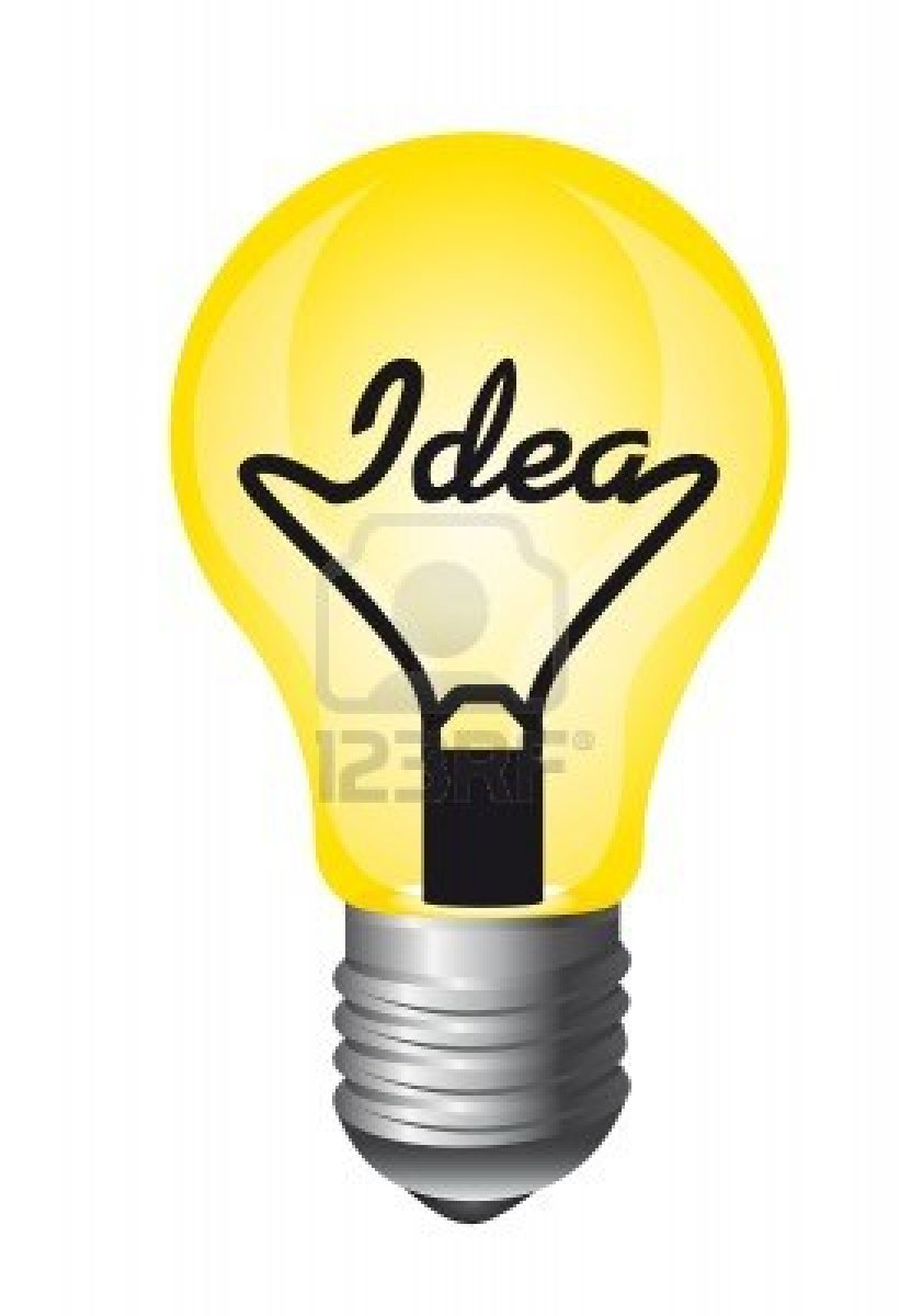 831x1200 Light Bulb Idea Clip Art