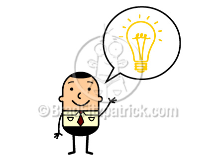 432x324 Cartoon Man With An Idea Lightbulb Clip Art Man With An Idea