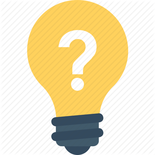 512x512 Bulb, Idea, Light Bulb, Question Mark, Thinking Icon Icon Search