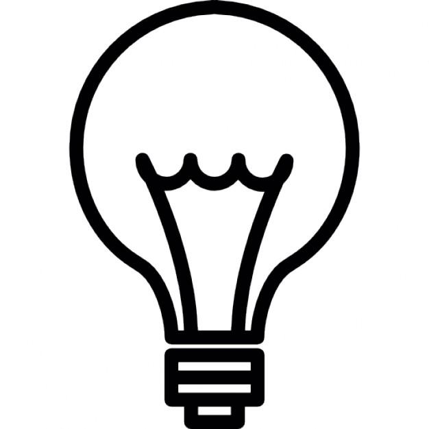 626x626 Idea. Light Bulb Thin Line, Ios 7 Interface Symbol Icons Free