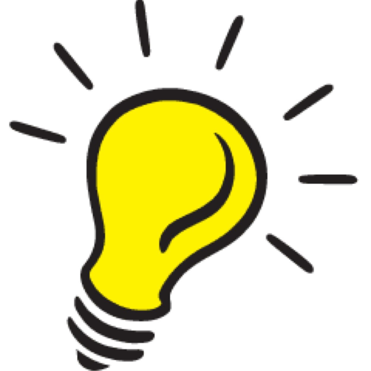 1252x1252 Light Bulb Clipart Transparent Background