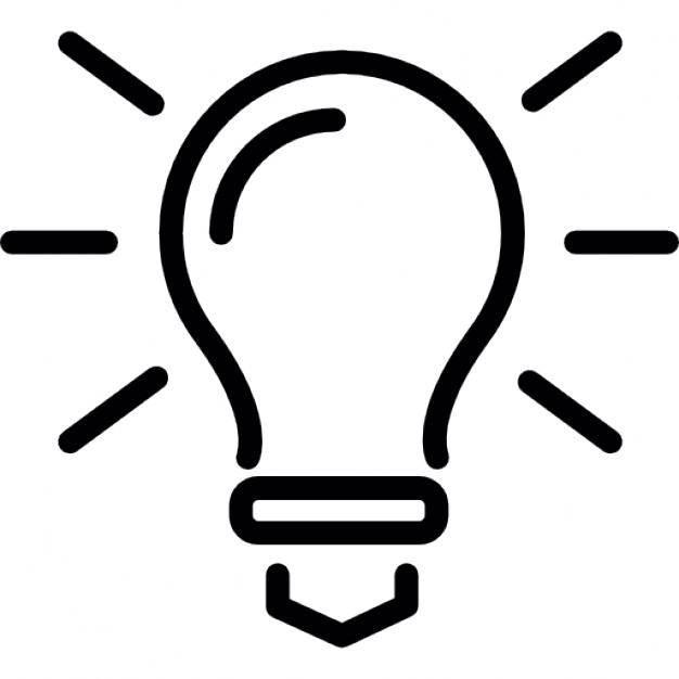 626x626 Light Bulb Outline, Ideas Symbol Icons Free Download