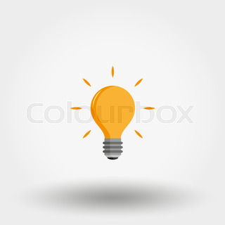320x320 Light Bulb. Exclamation Point. Idea. Icon For Web And Mobile