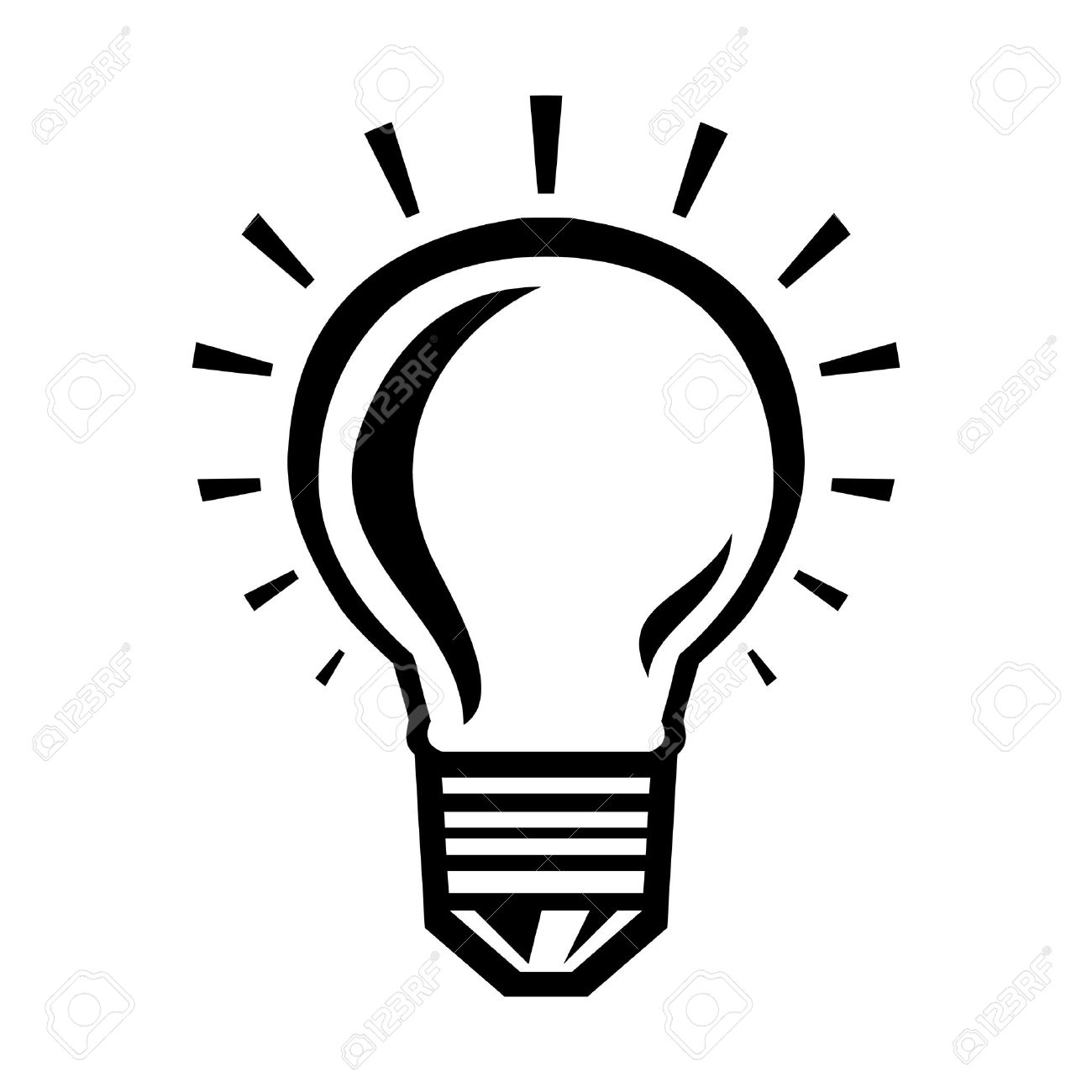 1300x1300 Lightbulb Vector Icon Royalty Free Cliparts, Vectors, And Stock