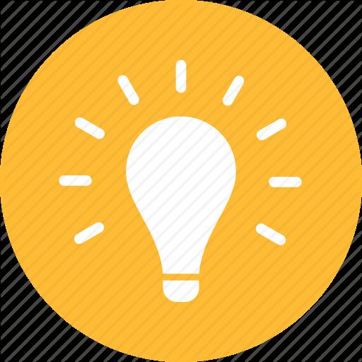 512x512 Blue, Circle, Creativity, Entrepreneur, Idea, Light Bulb Icon