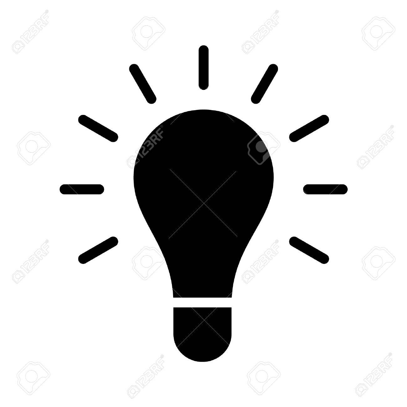 1300x1300 Bright Idea Light Bulb Flat Icon For Apps And Websites Royalty