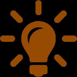 256x256 Brown Idea Icon