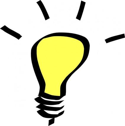 423x425 Light Bulb Idea Clip Art Clipart