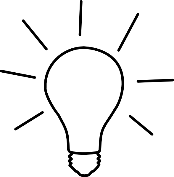588x597 Idea Light Bulb Clip Art