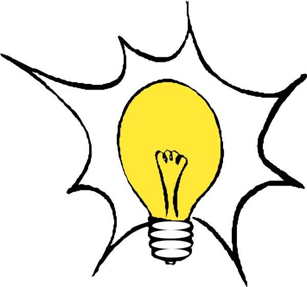 600x561 Light Bulb Clipart Drawn