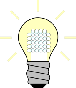 258x299 Light Bulb Led On Clip Art