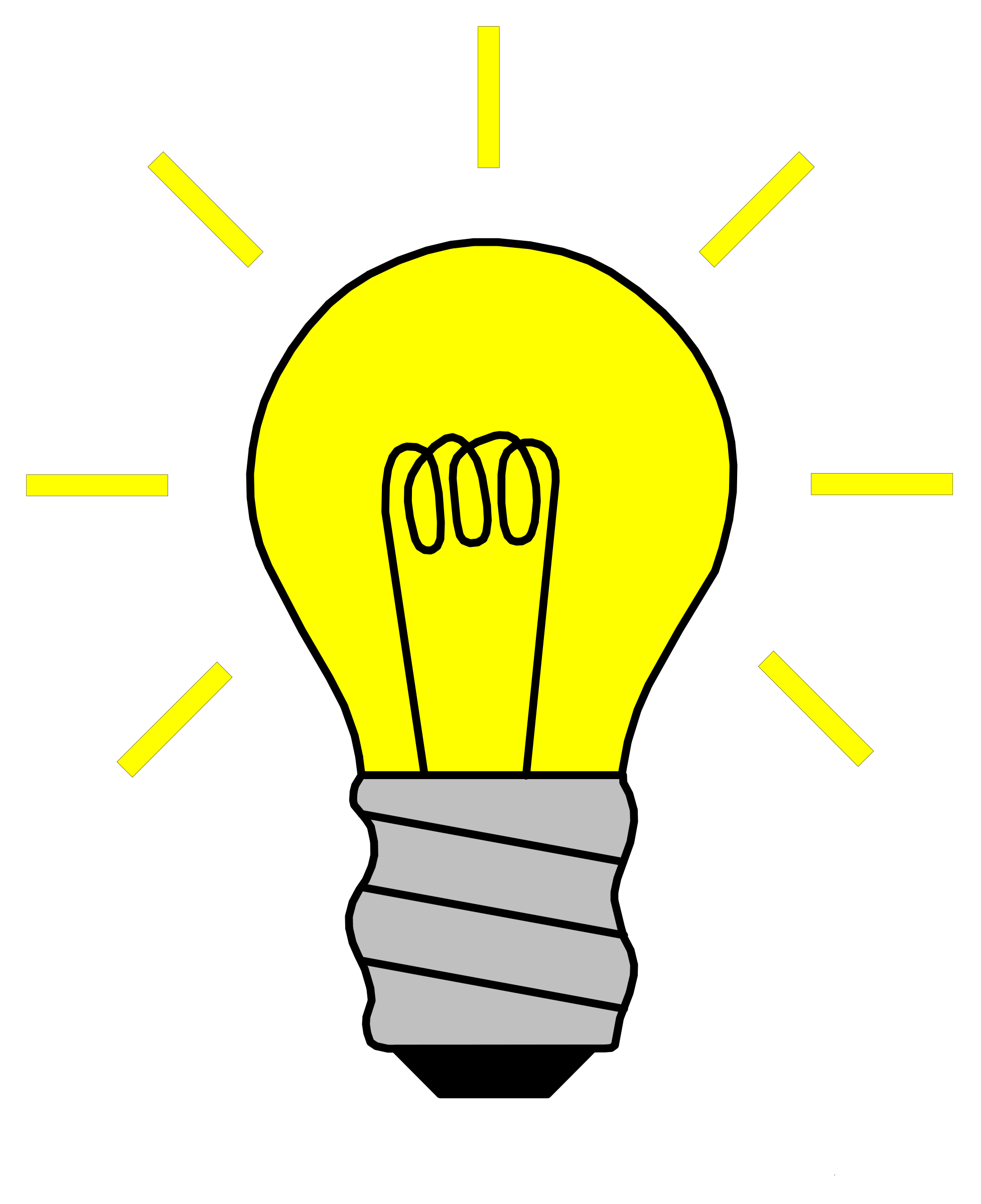 1955x2400 Light Bulb On Clipart Panda
