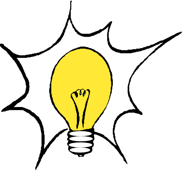 600x561 Light Bulb Clipart Blinks