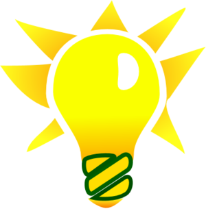 300x308 Light Bulb And A Star Vector Clip Art