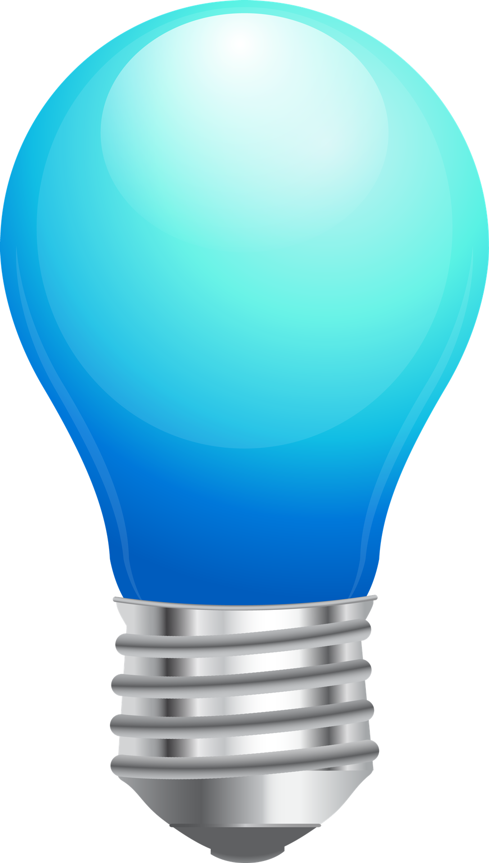 1000x1763 Blue Light Bulbs Clipart