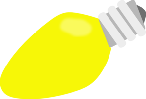 296x201 Yellow Christmas Lightbulb Clip Art