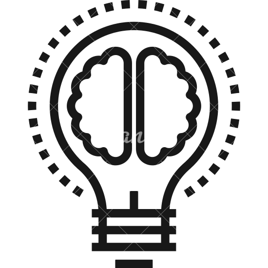 550x550 Light Bulb Brain