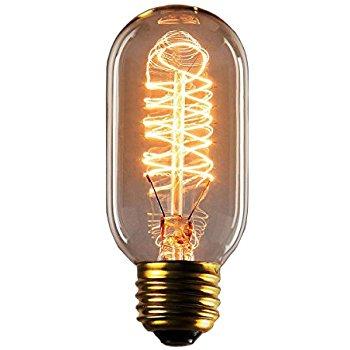350x350 Vintage Edison Bulbs, Rolay 25 Watt T45 Edison Style Square Spiral