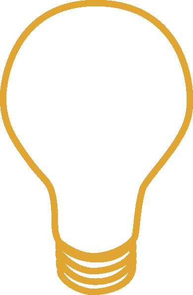 390x597 Yellow Light Bulb Clip Art