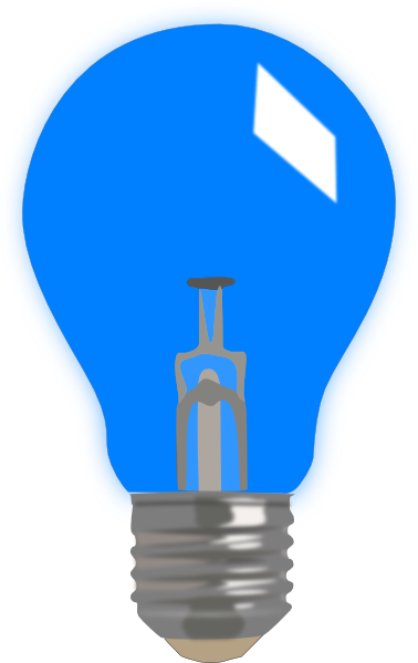 378x599 Free Blue Light Bulb Clip Art