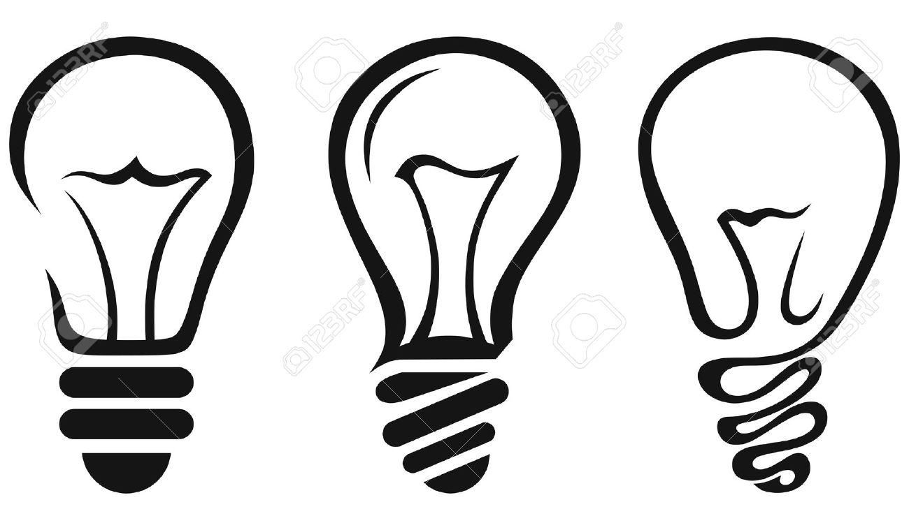 light bulb line art