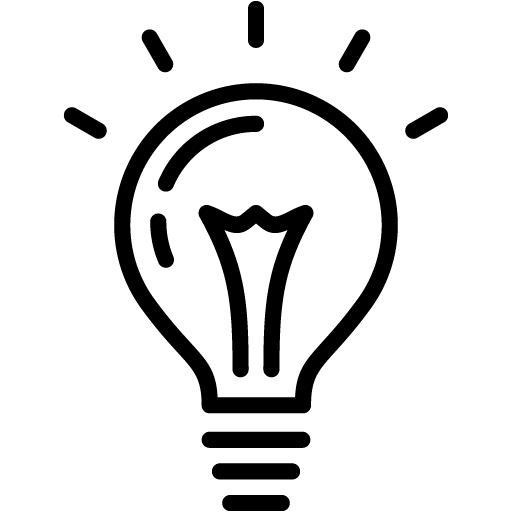 512x512 Black Light Bulb 2 Icon