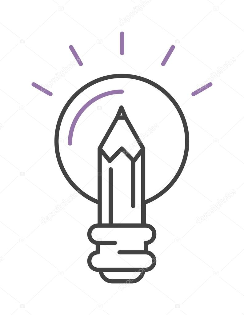 793x1024 Light Lamp Sign Idea Icon Concept Bulb In Hand Line Art Vector