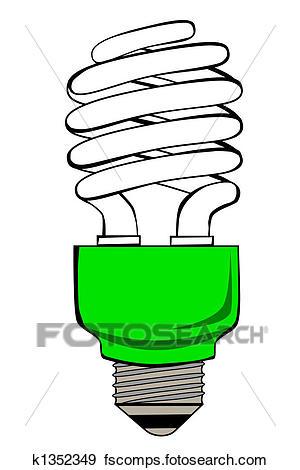 300x470 Stock Illustration Of Fluorescent Light Bulb K1352349