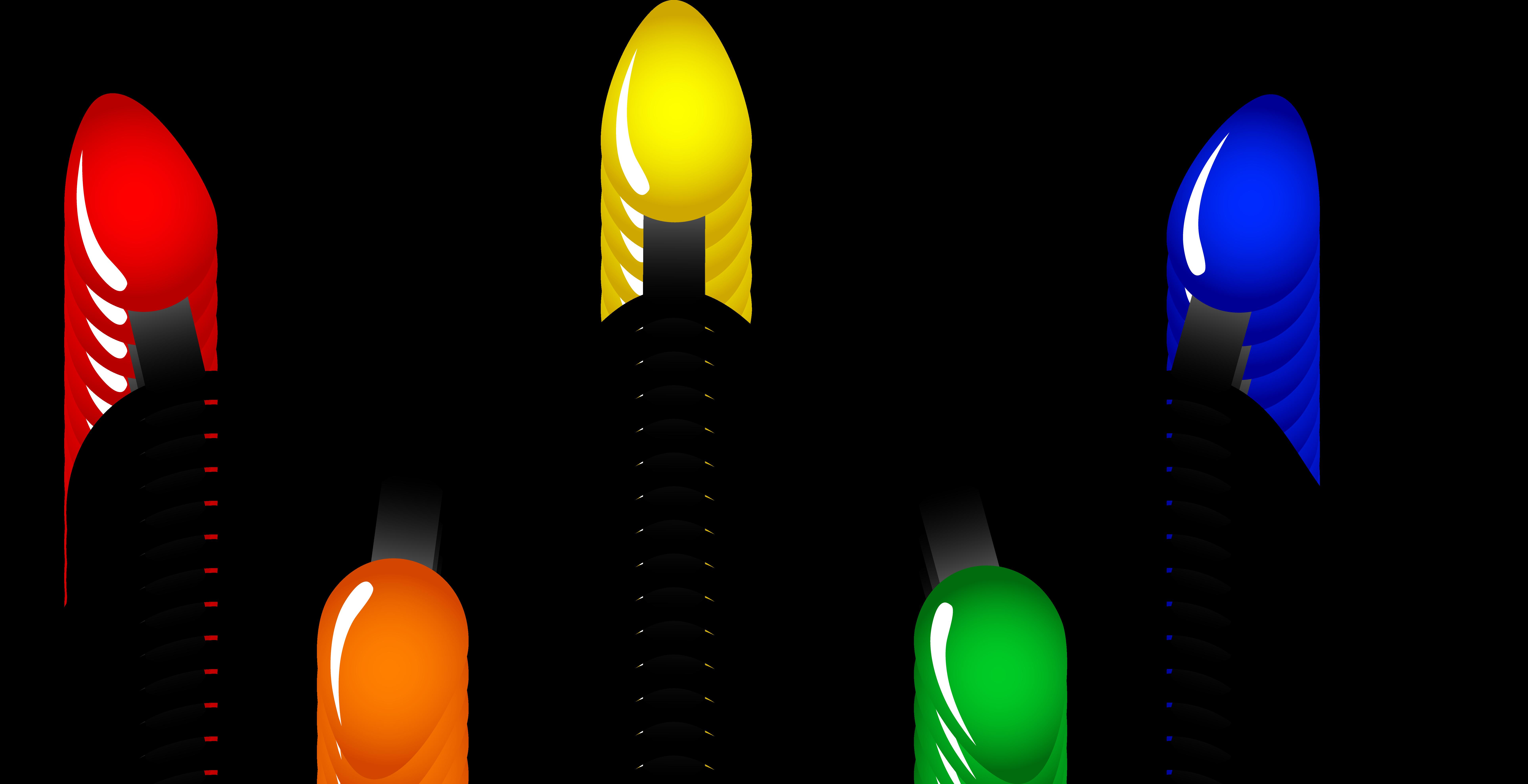 7709x3959 Christmas Light Bulb Clip Art