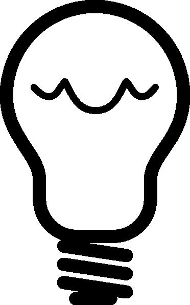 372x596 Light Bulb Outline Clip Art