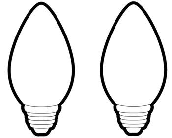 350x280 Christmas Light Bulb Outline Clipart Panda