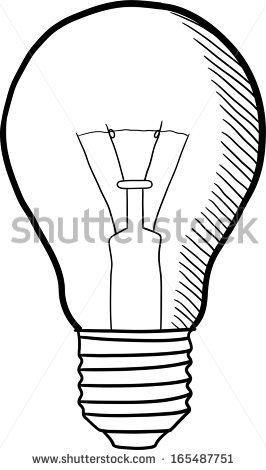266x470 Light Bulb Outline Sketch Clipart Panda