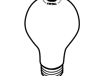 440x320 Christmas Light Bulb Outline Clipart Clipartfest