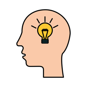 300x300 Creative Illustration Of Human Head With Light Bulb For Innovation
