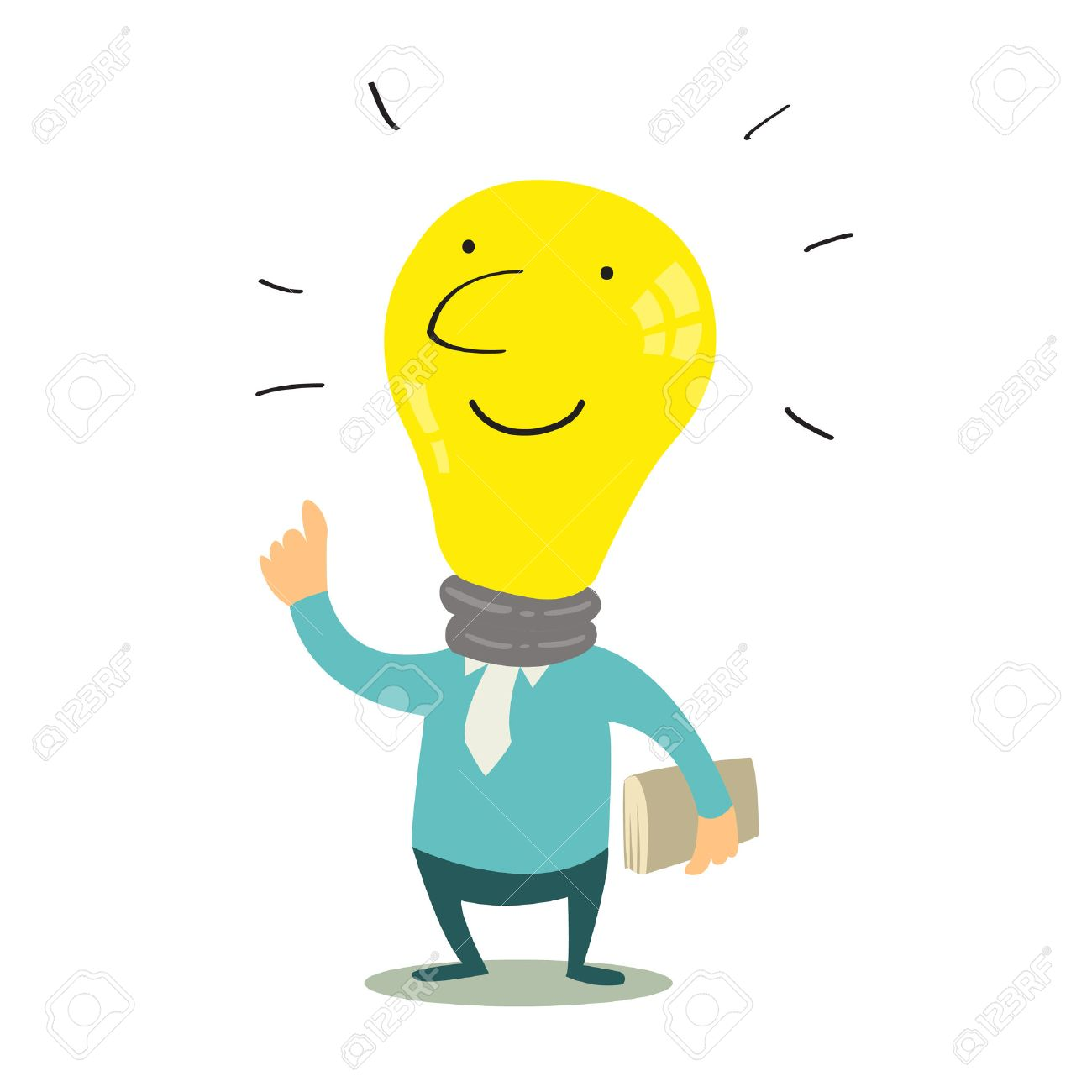 1300x1300 Get Idea With Cute Light Bulb, Knowledge Concept Royalty Free