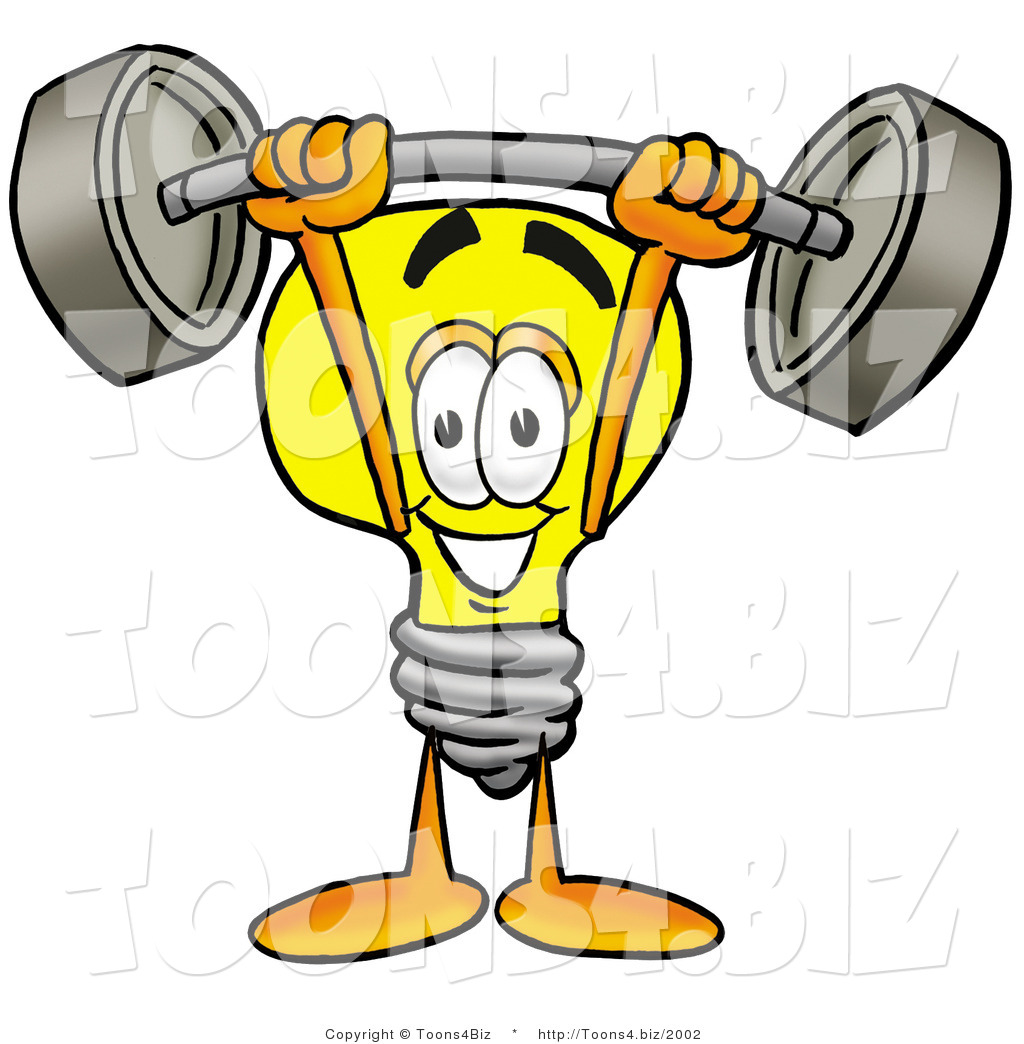 1024x1044 Illustration Of A Cartoon Light Bulb Mascot Holding A Heavy