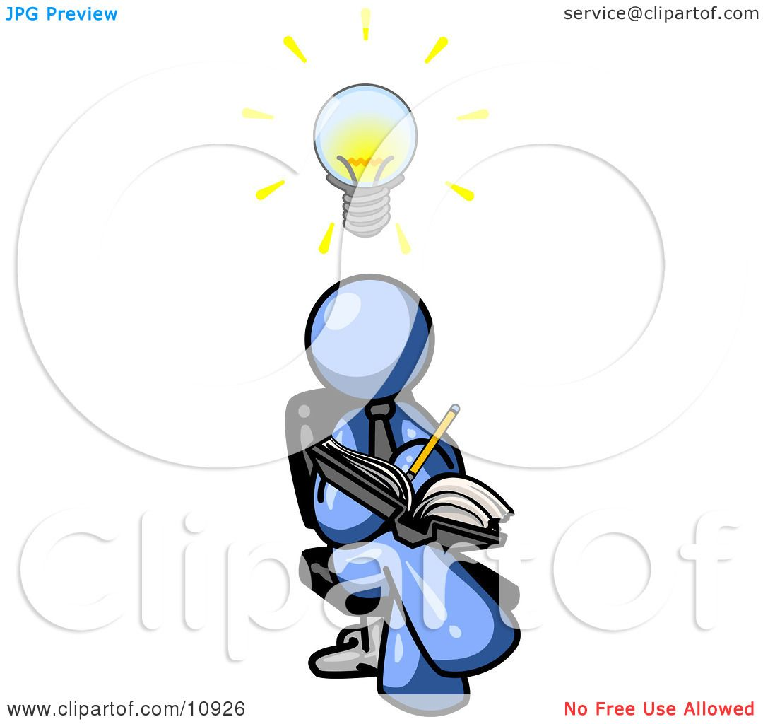 1080x1024 Smart Blue Man Seated With His Legs Crossed, Brainstorming