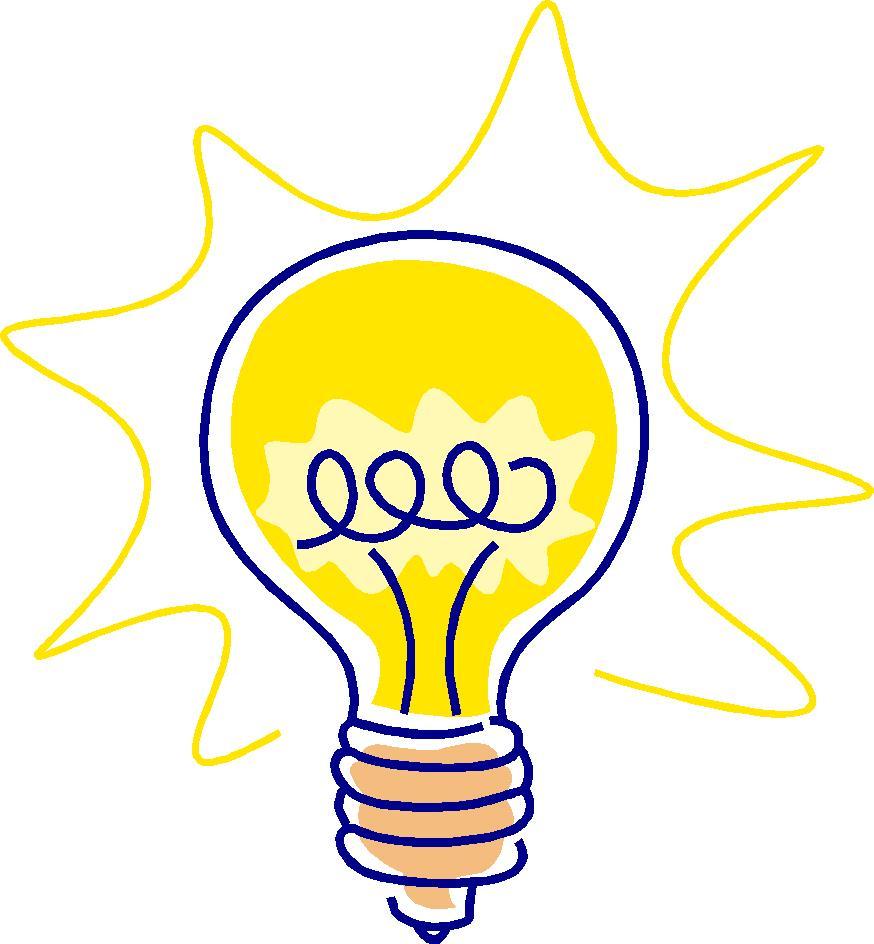 874x944 Bright Light Bulb Clipart